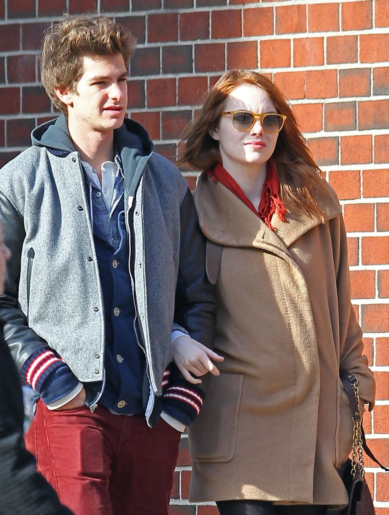 Emma Stone and Andrew Garfield enjoyed a sunny NYC day.