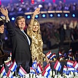 King Willem-Alexander and Queen Máxima at the Liberation Day concert in Amsterdam.
