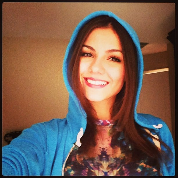 Victoria Justice shared her love for hooded sweatshirts. Source: Instagram user victoriajustice