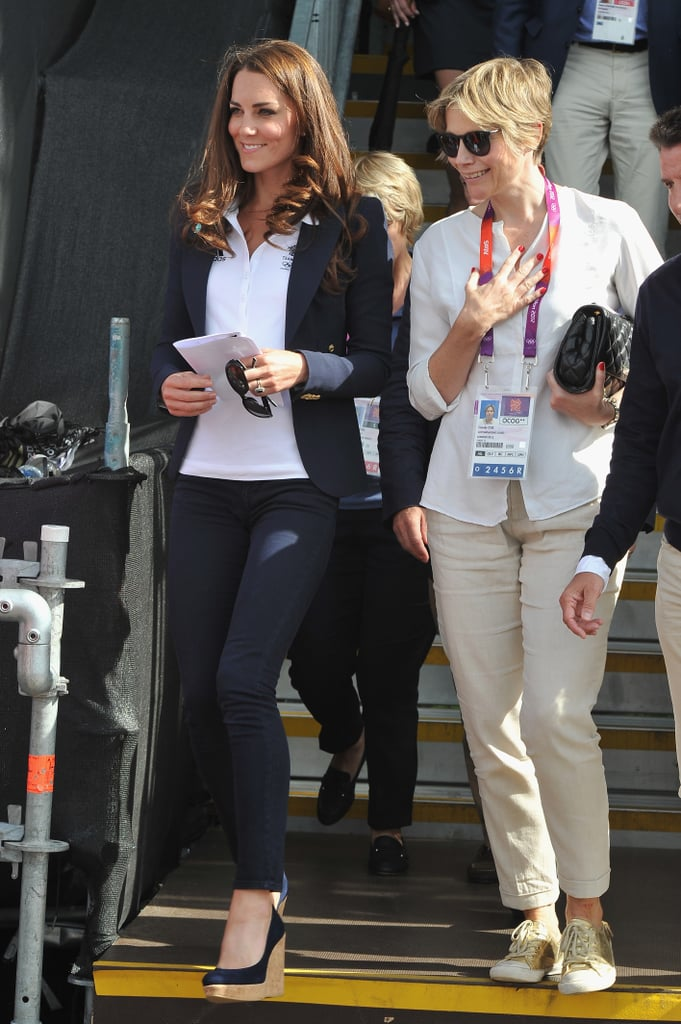 Kate headed in to the cross-country equestrian event.