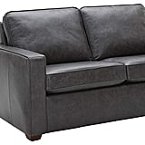 Rivet Andrews Contemporary Top-Grain Leather Loveseat Sofa with Removable Cushions