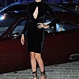 At the afterparty for the London premiere of Fast & Furious 6, Gal went with a velvet dress and ankle-strap shoes.
