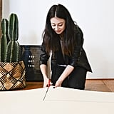 Cut the foam to size using your wood as a template.