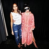 Ashley Madekwe wore her leopard-print loafers to meet Gaga — which means they must be really cool. Paired with a graphic tee and distressed denim, they'll help you make a fresh statement, instead of one that feels expected.