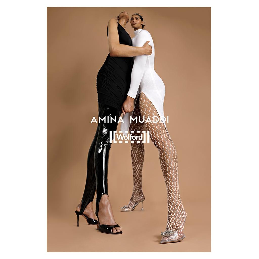 Shop the Wolford x Amina Muaddi Legwear and Bodywear Collab
