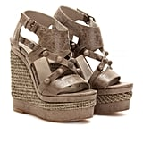 These gladiator-style wedges are sleek with a nautical-cool vibe. Balenciaga Rope Detailed Studded Wedges ($935)