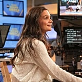Katie Holmes hit the talk show circuit solo.