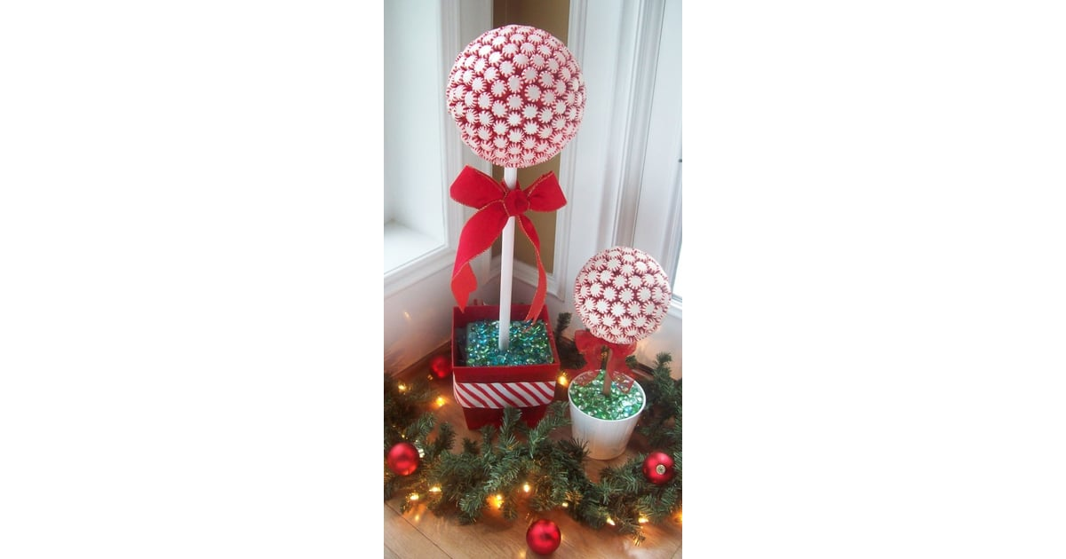 Peppermint Topiary Tree Diy Christmas Decorations Kids