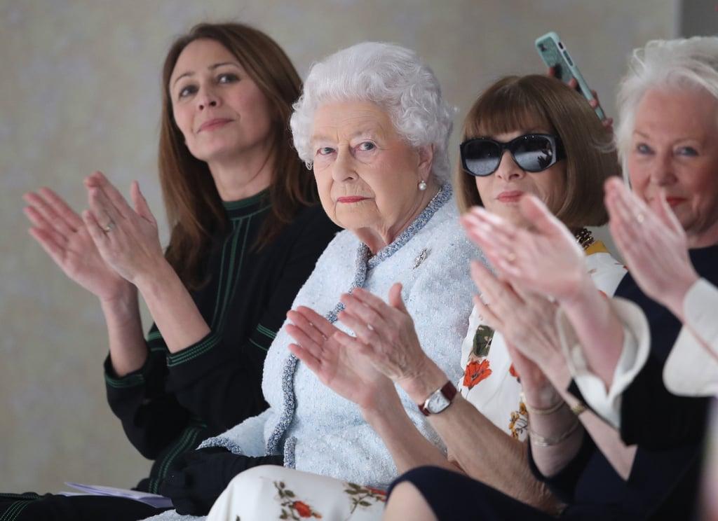 Queen Elizabeth II at Fashion Week