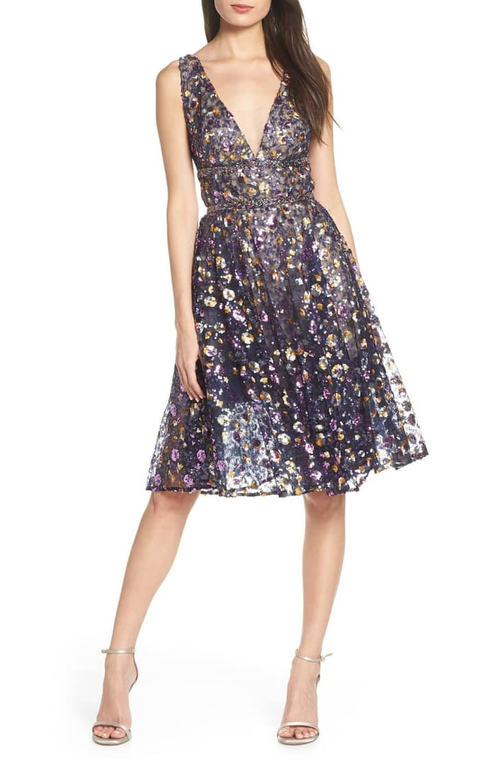 bronx and banco sequin fit  flare dress  best wedding