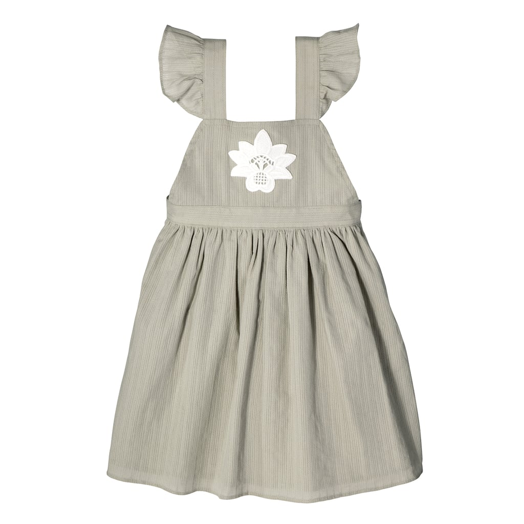 Toddler Girls' Sage Green Ruffle Strap Flower Appliqué Dress ($20)