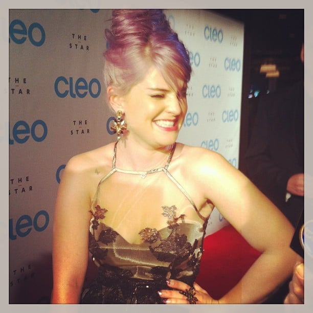 Giggly Kelly Osbourne was a delight on the red carpet at the launch party for the revamped CLEO.