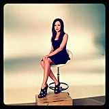 Autumn Reeser shared a behind-the-scenes pic from a photo shoot.  Source: Instagram user autumn_reeser