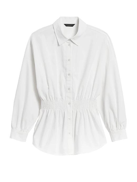 JAPAN EXCLUSIVE Poplin Gathered-Waist Shirt