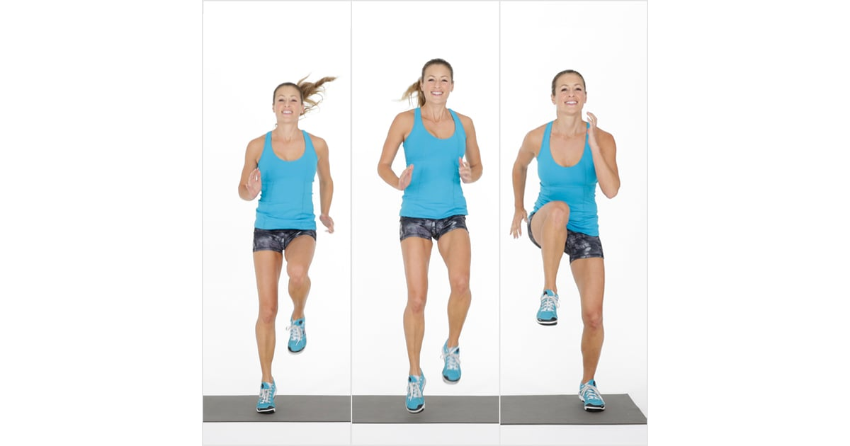 Tabata One Lateral High Knee Run And Hold 20 Minute