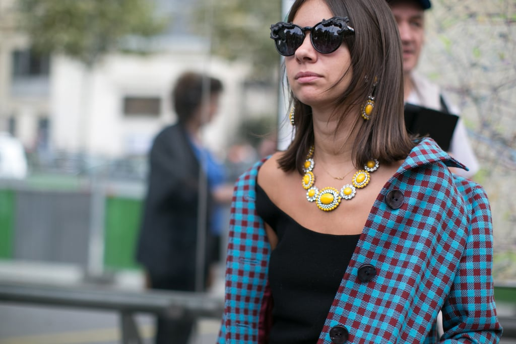 Natasha Goldenberg relies on bold jewels.