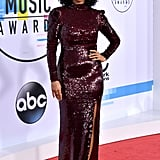 Tracee Arrived in a Full-Length Sequined Gown From Stella McCartney