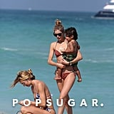 Doutzen Kroes and Candice Swanepoel in Bikinis in Miami