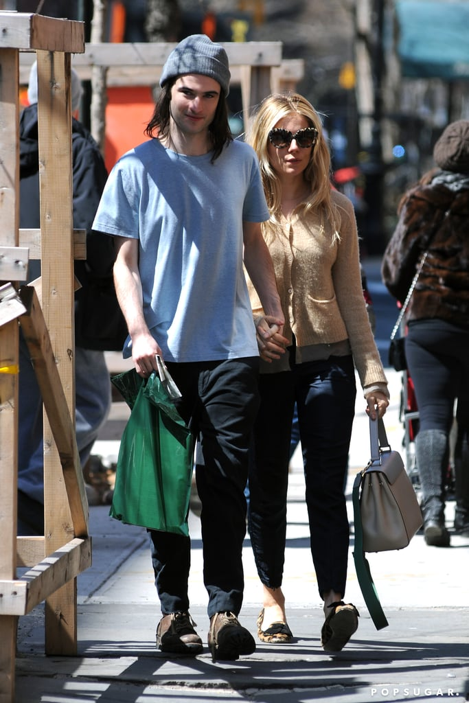 Tom Sturridge and Sienna Miller held hands in NYC.