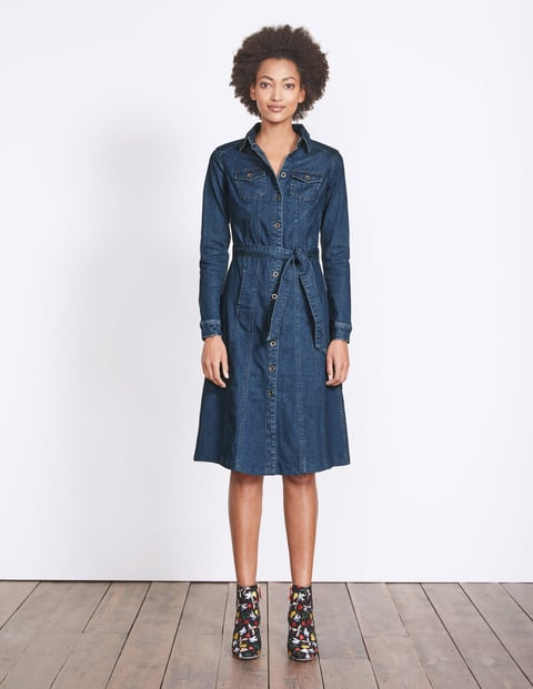 Boden Laura Denim Shirt Dress Denim Dresses For Autumn Popsugar