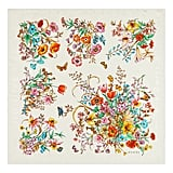 Gucci Sine Bouquet Silk Twill Scarf