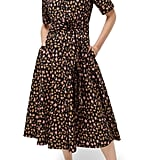 J.Crew Leopard Tie-Waist Short-Sleeve Dress