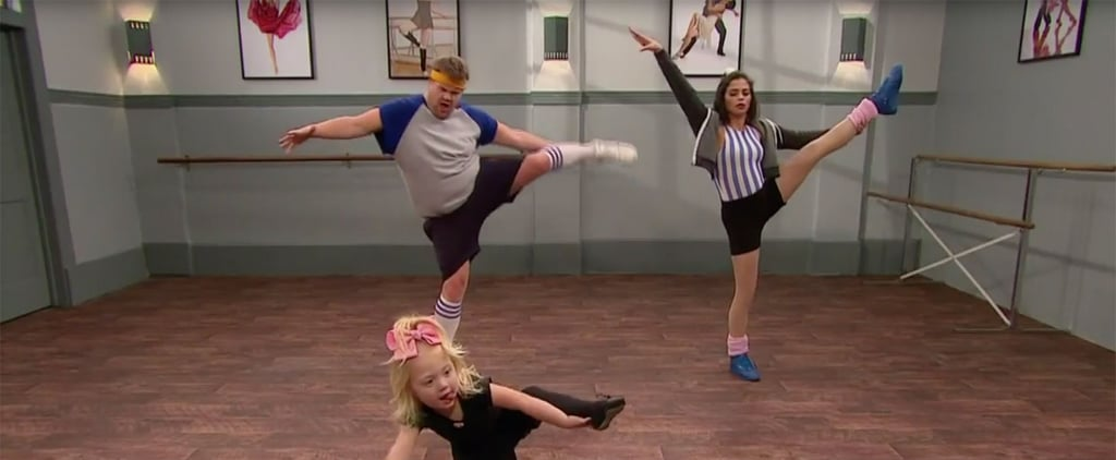Jenna Dewan Tatum Toddlerogrophy on Corden Video