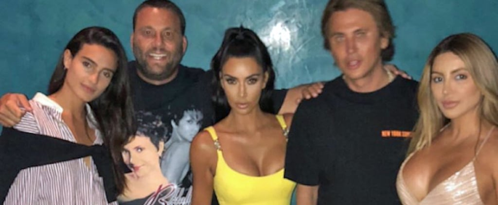Kim Kardashian Yellow Vintage Versace Dress 2018