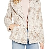 Halogen Textured Faux-Fur Coat
