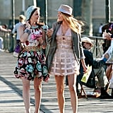 "Gossip Girl affected the way women shopped. A New York Times article in 2008 claimed that ""Merchants, designers, and trend consultants say that Gossip Girl . . . is one of the biggest influences on how young women spend,"" and a Bloomingdale's fashion director proclaimed the show had a ""profound influence on retail."" Costume designer Eric Daman confirmed this, telling Vanity Fair that when they came back for season two, ""So many designers were lining up and wanting to be a part of it — they wanted their stuff on either Blake or Leighton."" Zuzanna Szadkowski has a very eclectic group of fans. Szadkowski, who played fan-favorite Dorota on the series, had an unlikely run-in with a man ""who had a suit and a briefcase, this total Wall Street Guy, and he was all like, 'Oh my god, Dorota!' He told me, and a couple of other guys have told me this, too, that they used to watch the show because it was a great way in with the ladies."" Rumors of feuds on set were completely made up. ""When we were filming, there was, 'Leighton hates Blake, Blake hates Leighton, everyone hates Blake, everyone hates Leighton, everyone hates Chace,' and blah, blah, blah. It really wasn't,"" Trachtenberg said. ""We were all chill. It was cool."" Makeup artist Amy Tagliamonti also agreed there weren't any feuds, because ""there was too much work to do for things to be that dramatic behind the scenes."" Lively and Meester might not have been feuding, but they weren't close at all. Executive producer Joshua Safran said that the costars ""were not friends,"" but they were friendly. ""They were not friends like Serena and Blair. Yet the second they'd be on set together, it's as if they were.""  Lively and Penn Badgley hid their breakup so well that no one even realized it had happened. Lively and Badgley, whose characters also dated on the show, were experts at keeping their relationship (and subsequent breakup) on the DL. ""I found out on the set of the Season 2 finale that Blake and Penn had broken up months before,"" Safran recalled. ""They kept the breakup hidden from the crew, which you could never do now. I don't even know how they did it. They kept it from everybody which is a testament to how good they are as actors. Because they did not want their personal drama to relate to the show."""
