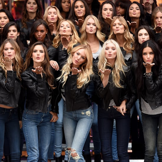 2014 Victoria's Secret Fashion Show Models Before Runway