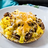 Sausage, Egg, and Cheese Bagel Pizzas