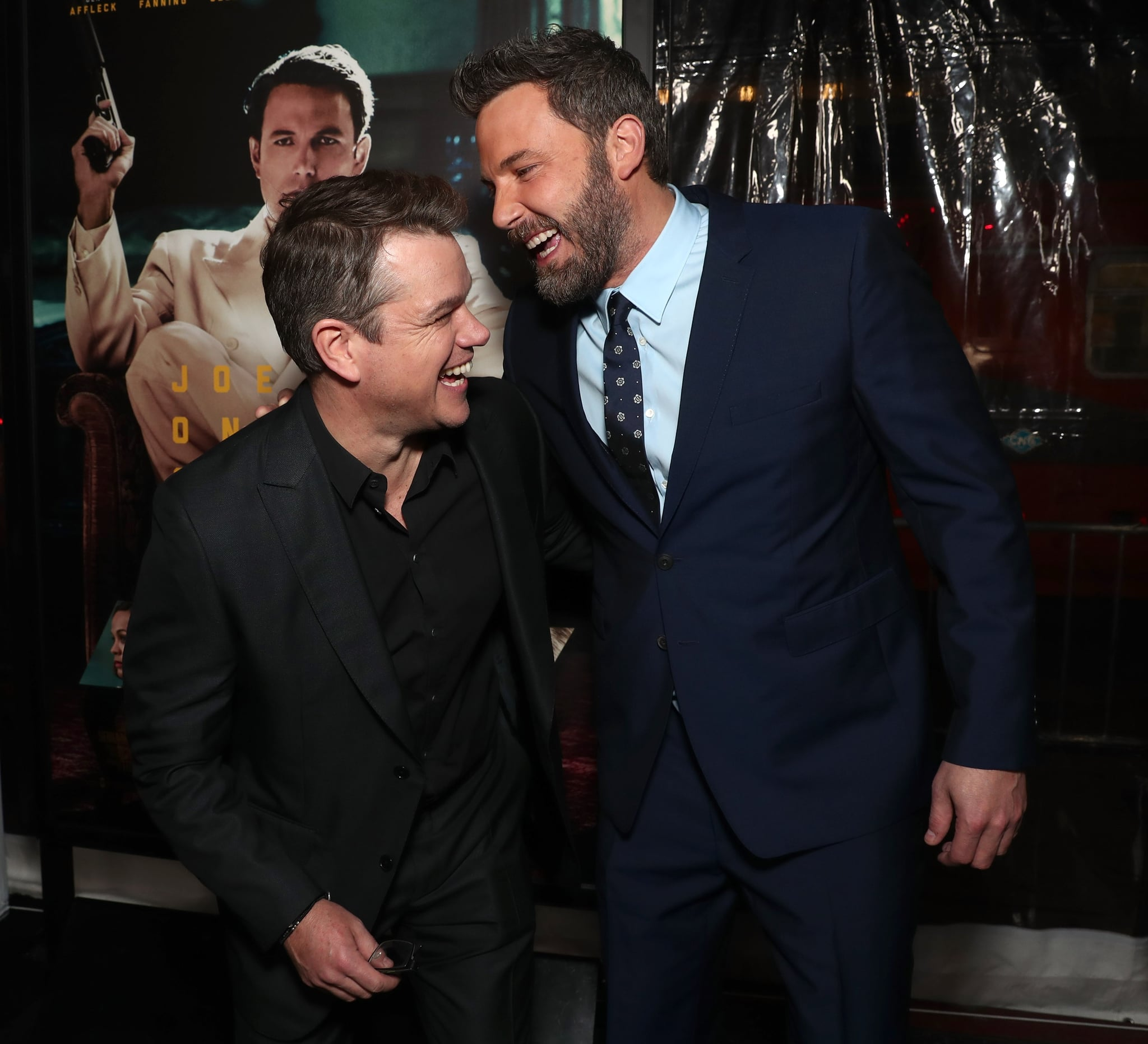 HOLLYWOOD, CA - JANUARY 09:  Matt Damon and Ben Affleck attend the premiere Of Warner Bros. Pictures'