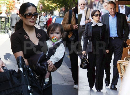 Salma, Francois and Valentina Makes Three in Paris