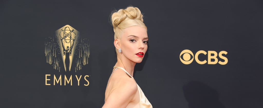 Anya Taylor-Joy Wears Golden Dior Dress at 2021 Emmys