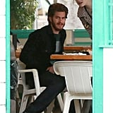 Andrew Garfield and Emma Stone had lunch together in Santa Barbara.