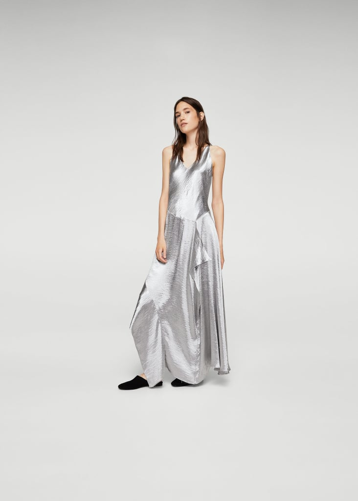 Mango Ruffle Metallic Dress (£80)