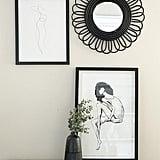 Black Bamboo Flower Mirror
