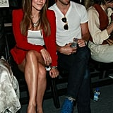 Sophia Bush and Chris Pine in the front row at Rebecca Minkoff.