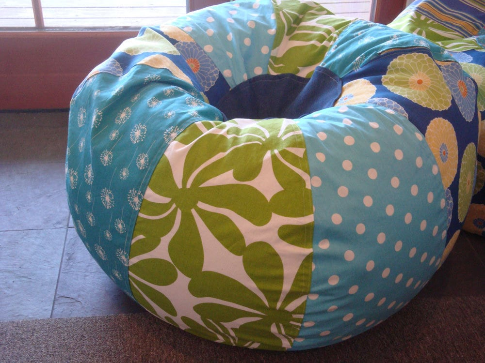 Blue and Green Bean Bag Chair ($130)