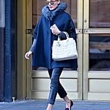 Olivia Palermo Wearing a Winter Cape
