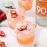 Strawberry White Wine Cocktail Spritzer