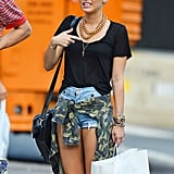 Miley Cyrus wore short shorts.