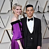 Rami Took the Red Carpet With Lucy Boynton and His Slightly Crooked Bowtie