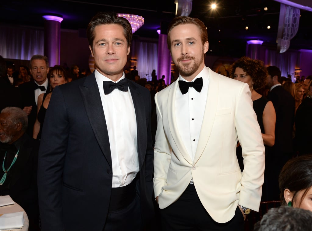 Ryan Gosling and Brad Pitt caused temporary blindness by posing together in 2016.