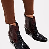 Ganni Callie Two-Tone Boots