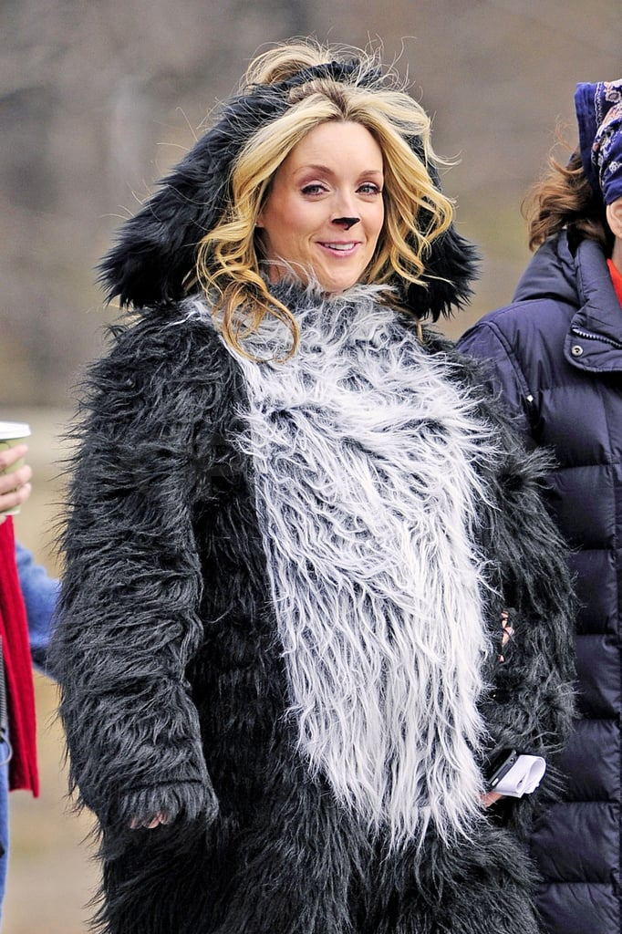 Jane Krakowski Covers Her Bump With a Dog Costume While on Set With Tina Fey