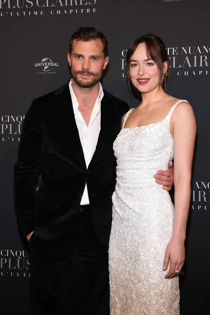 Jamie Dornan and Dakota Johnson have officially kicked off their Fifty Shades Freed press tour! On Tuesday, the duo stepped out together for the glamorous Paris premiere of the film, just days before its release. Jamie sported a black suit while Dakota stunned in a white gown — and is it just us or do they look like they're about to get married? Also on hand for the event were Jamie's wife, Amelia Warner, and their costars Eric Johnson, Rita Ora, and Marcus Viscidi. Fifty Shades Freed hits cinemas on Feb. 9, so we hope you've cleared your calendar!       Related:                                                                                                           Treat Yourself to Even More of Gorgeous Jamie Dornan