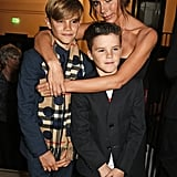 In November 2015, Victoria stepped out at the Burberry Festive film premiere in London with her boys Cruz and Romeo.