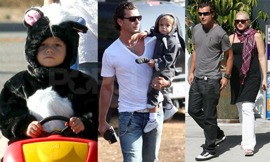Photos of Kingston Rossdale Dressed as a Skunk and an Elephant